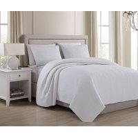 Sterling Creek Charlotte 3-Piece Soft-Washed Linen Cotton Quilted Bedspread Coverlet Set