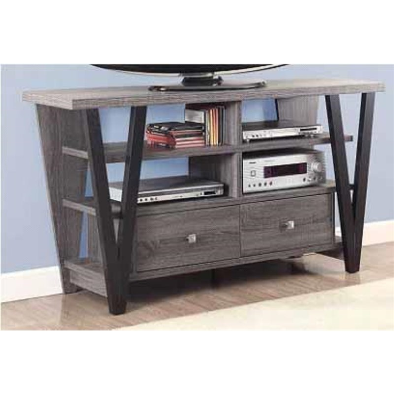 Coaster Company TV Console, Distressed Grey and Black