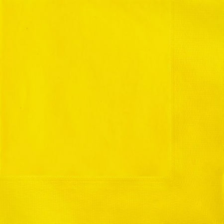 (3 Pack) Paper Luncheon Napkins, 6.5 in, Yellow, - Yellow Napkins
