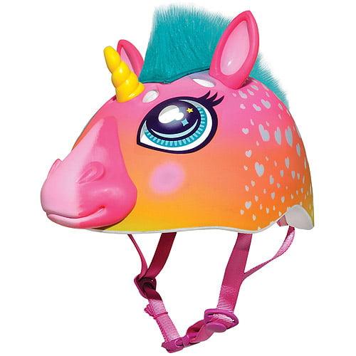 Raskullz Super Rainbow Corn Hair Helmet, Child 5+ (50-54cm)