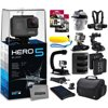 GoPro HERO5 Black CHDHX-501 with 96GB Ultra Memory + Solar Charger + Headstrap + Chest Harness + Floaty Bobber + Suction Cup + Opteka X-Grip + Large Padded Case + Two Batteries + Much More
