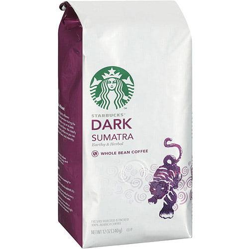 Starbucks Dark Sumatra Whole Bean Coffee, 12 oz