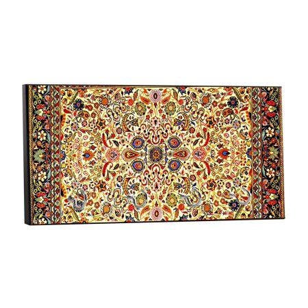 "Colorful Persian Rug Print Design - 5"" by 11"" Key Hanger Household Decoration with Four Hooks"