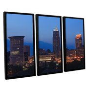 ArtWall Cleveland 17 by Cody York 3 Piece Framed Photographic Print on Canvas Set