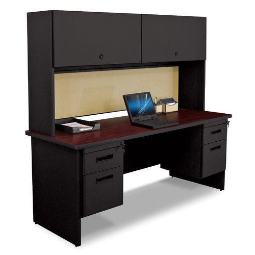 Marvel Office Furniture Pronto Executive Desk with Flipper Door Cabinet and Modesty Panel