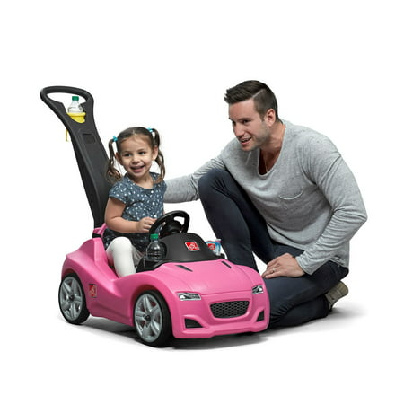 Step2 Whisper Ride Cruiser with large, under seat storage and multiple cup holders , Pink (Pink Step 2 Wagon)