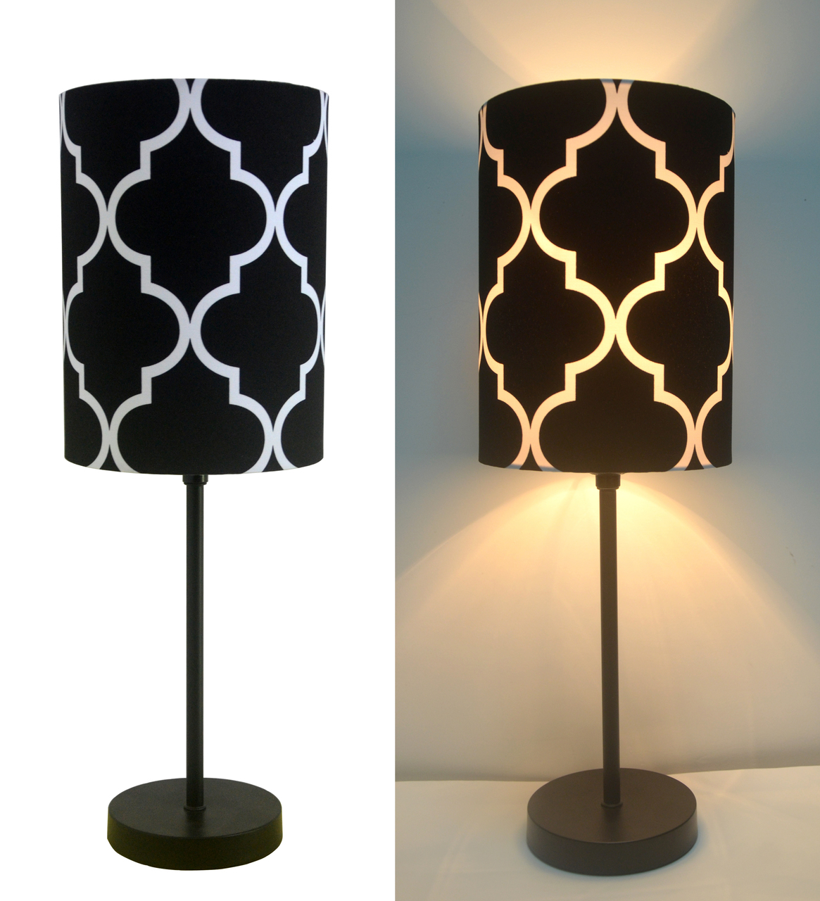 black lamp tables for living room 16 quot h mini living room indoor table lamp metal base black 26554