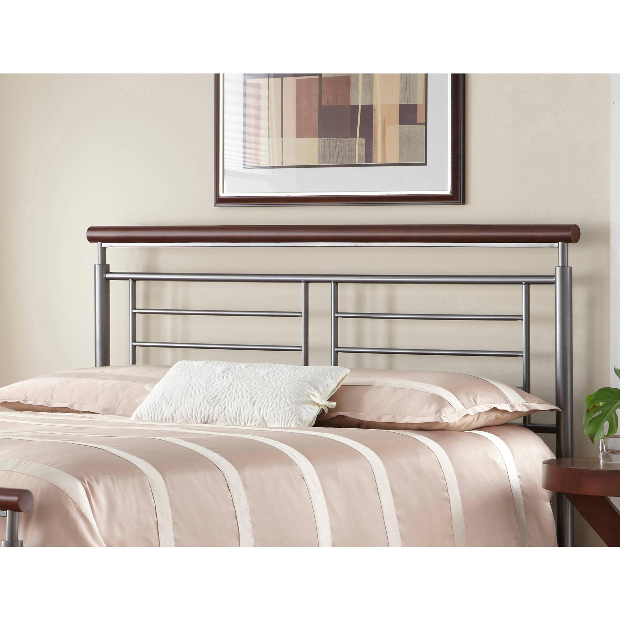 Fashion Bed Group by Leggett & Platt Fontane Silver/Cherry Headboard, Multiple Sizes