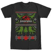 Jurassic World Men's Ugly Christmas Sweater Print T-Shirt