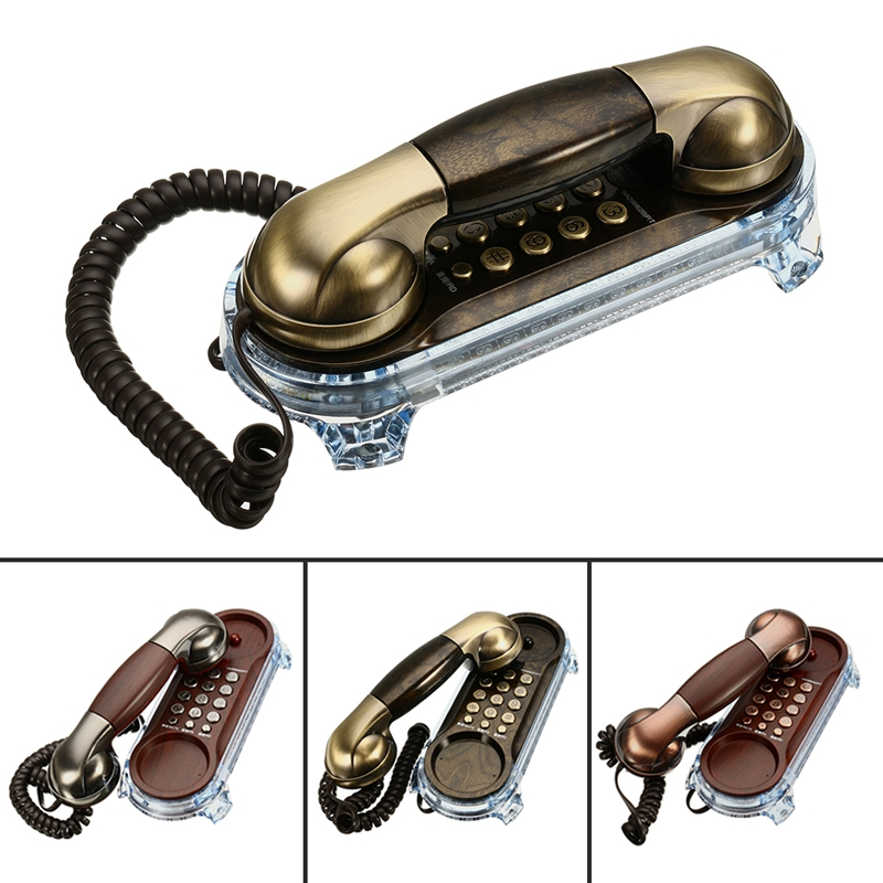 Hanging Antique Wall Mount Telephone Elegant Wired Cored Landline