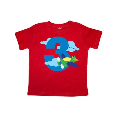 3rd Birthday Airplane Pilot Toddler T-Shirt - Airplane Shirt