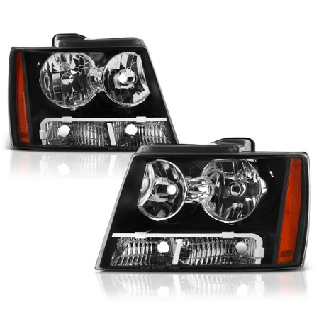 VIPMOTOZ OE-Style Headlight Headlamp Assembly For 2007-2014 Chevy Avalanche Tahoe Suburban 1500 2500, Driver & Passenger Side (Tahoe Driver Airbag)