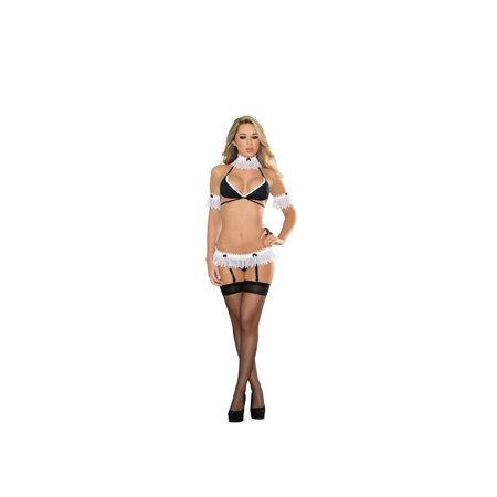 Gold French Maid Teddy Costume Naughty Womens Sexy Lingerie Camwhores 1