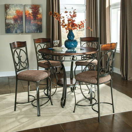 Signature Design by Ashley Glambrey Counter Height Dining Table, Chairs Sold