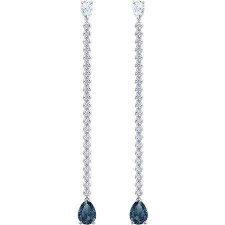 Swarovski Vintage Pierced Earrings, Blue 5457641