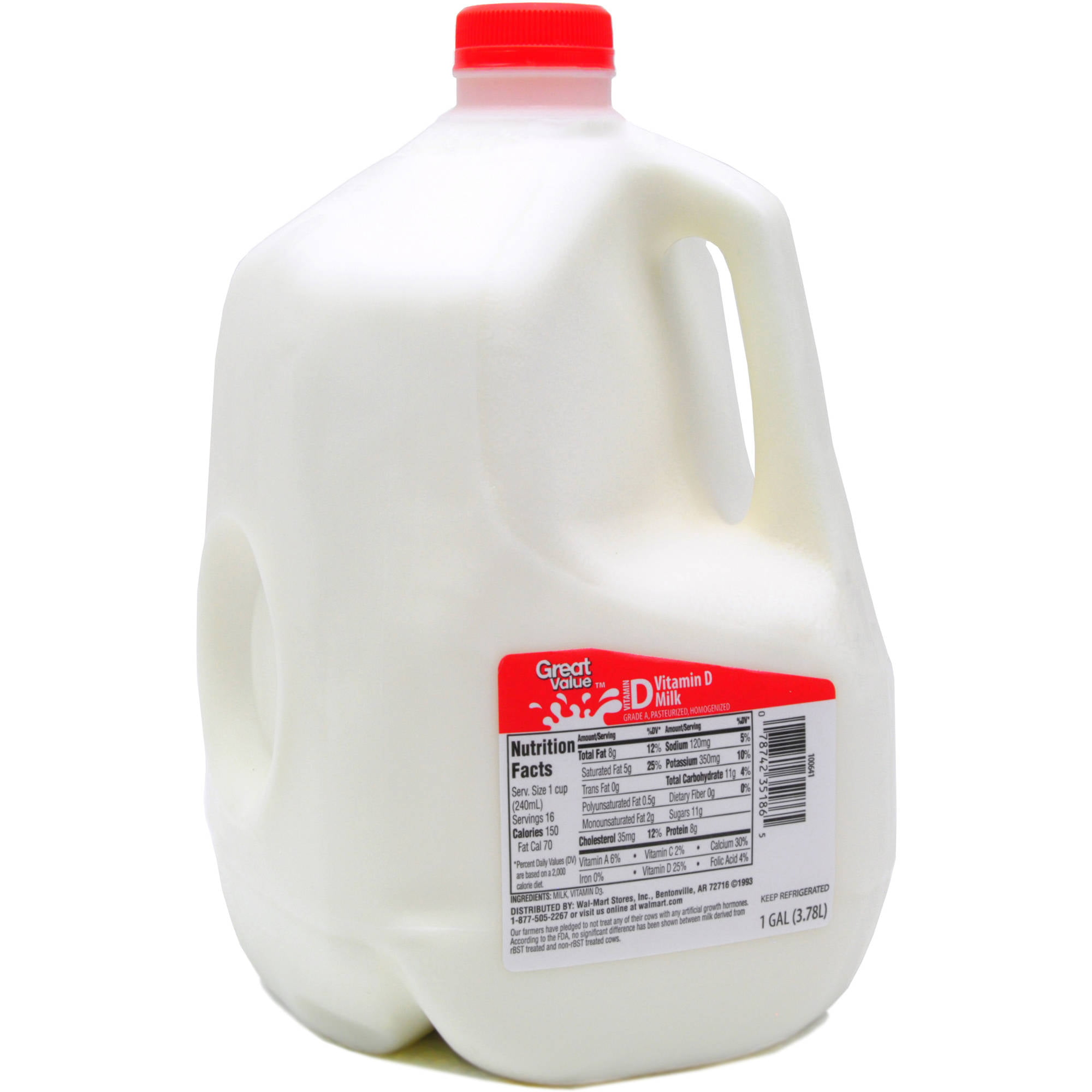 Oak Farms Vitamin D Whole Milk 1 Gal Walmart Com