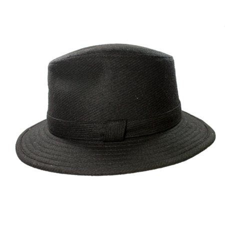 2da2630d5 new fedora hat for men 100% wool black made in ireland john hanly