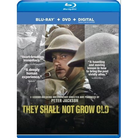 They Shall Not Grow Old (Blu Ray + DVD + Digital Combo Pack) - Good Halloween Movies For 12 Year Old