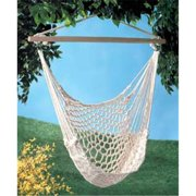 SWM 35330 Cotton Rope Hammock Cradle Chair With Wood Stretcher