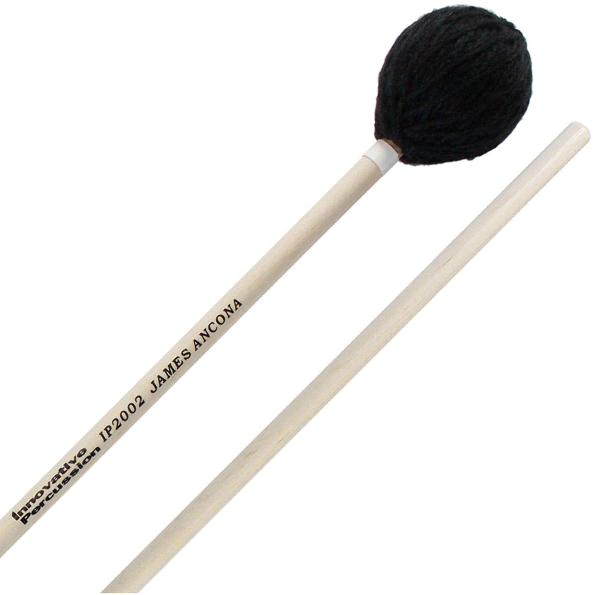 Innovative Percussion IP2002 James Ancona Series Soft Marimba Mallets with Birch Handles by Innovative Percussion