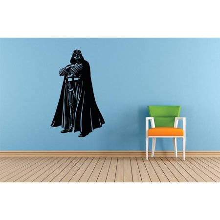 Darth Vader Star Wars Movie Series Children Kids Bedroom Boy Girl Silhouette Custom Wall Decal Vinyl Sticker 12 Inches X 18 Inches - Star Wars Window Decal