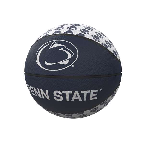 Penn State Nittany Lions Repeating Logo Mini-Size Rubber Basketball