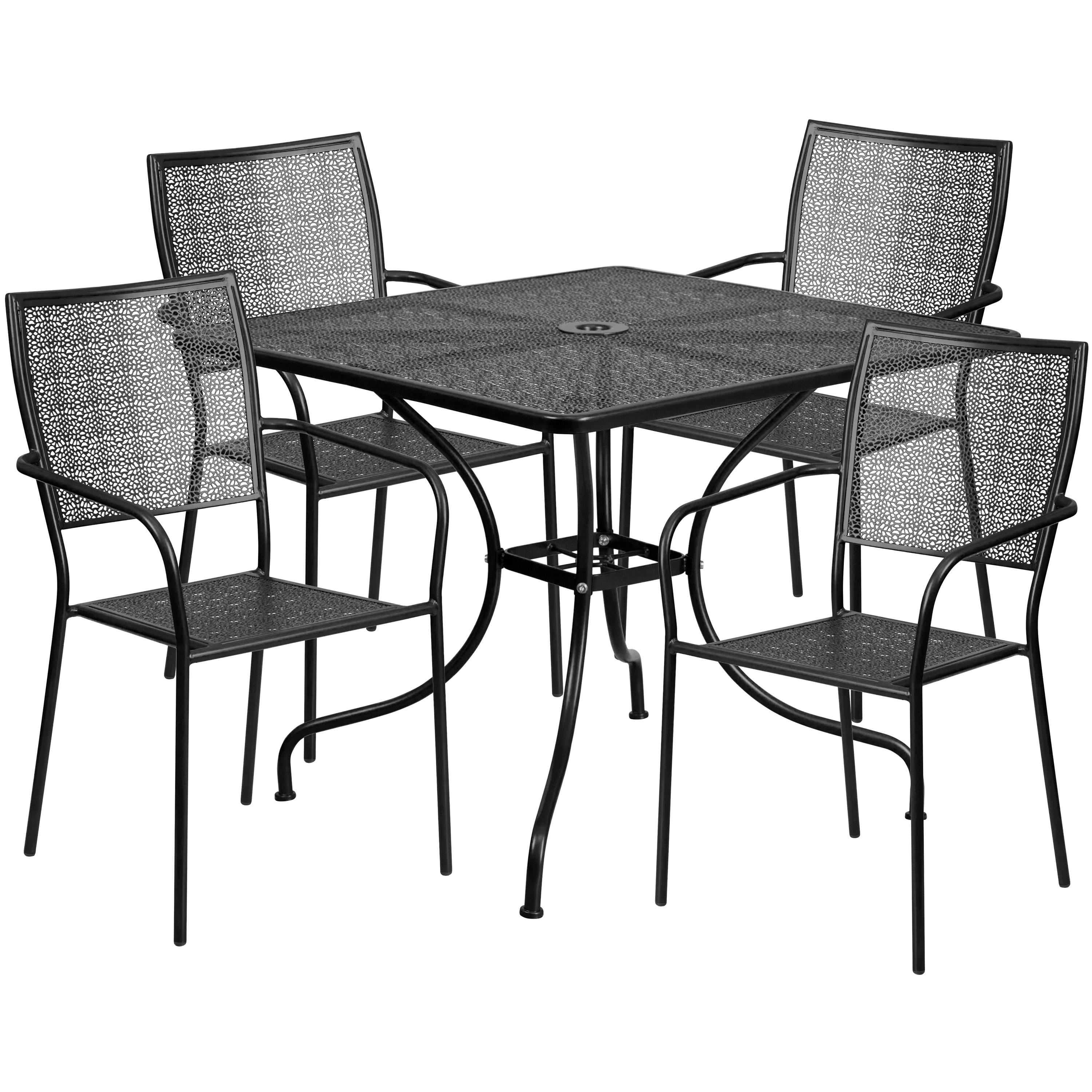 Indoor /& Outdoor Light Gray Restaurant Patio Stack Chair with Arm /& Round Back