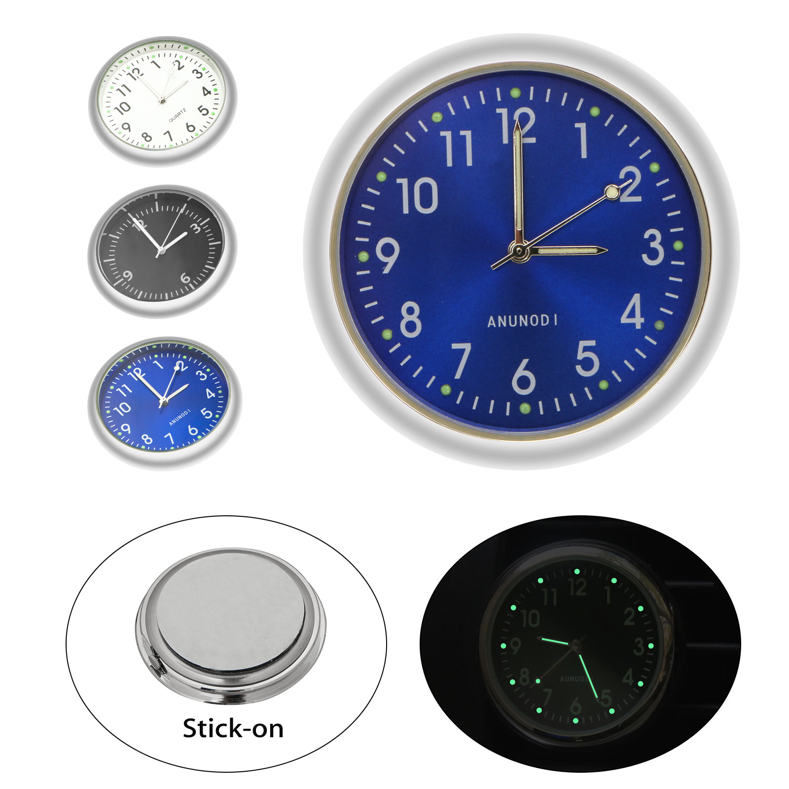 Universal Auto Interior Watch, EEEkit Mini Car Air Vent Clock, Luminous Pointer Digital Display with Stick-On for Car Home office