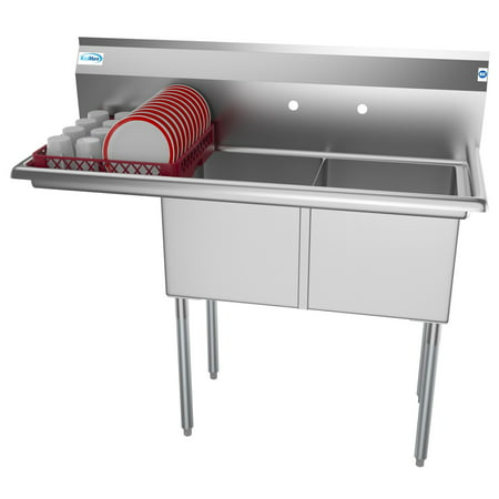 2 Compartment 48 Quot Stainless Steel Commercial Kitchen Prep