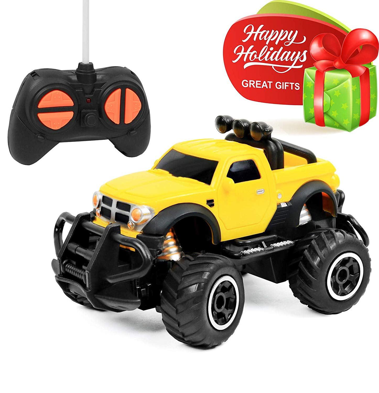 Click N Play Rc Remote Control Car Mini Pickup Truck Rock Crawler Radio Control Vehicle Walmart Com Walmart Com