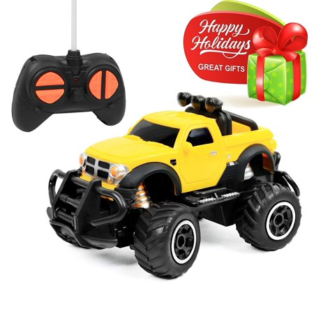 Click N' Play RC Remote Control Car, Mini Pickup Truck, Rock Crawler Radio Control Vehicle. ()