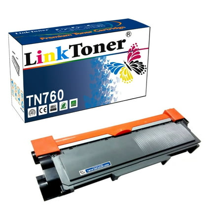 LinkToner TN760 Toner With Chip Compatible Replacement for Brother TN-730 TN-760 TN-770