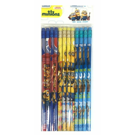 Minions Character Authentic Licensed 24 Wood Pencils Pack - Minions Character Names