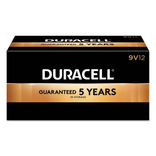Duracell CopperTop Alkaline Batteries, 9V, 12/BX