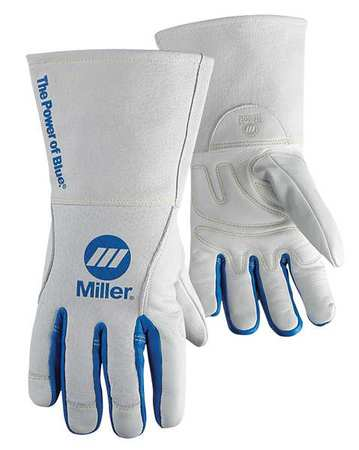 """MILLER ELECTRIC Welding Gloves,MIG,12"""",L,PR 263333"""