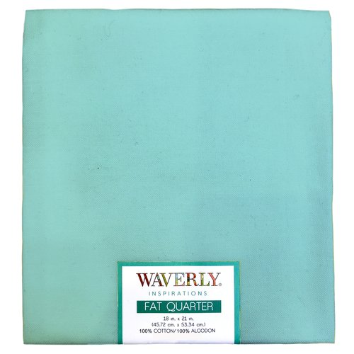 "Waverly Inspiration Fat Quarter AQUA 100% Cotton, Solid Fabric, Quilting Fabric, Craft fabric, 18"" by 21"", 140 GSM"