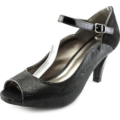 Karen Scott Nadda Women US 7 Black Peep Toe Mary Janes