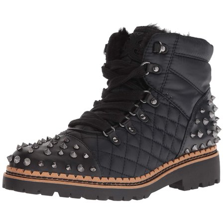 Sam Edelman Women's Bren Black Cold Weather Studded Fashion Combat Boots