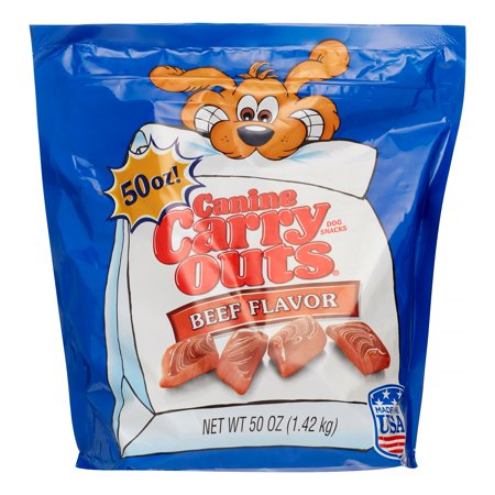 Canine Carry Outs Beef Flavor Dog Snacks  50 Oz