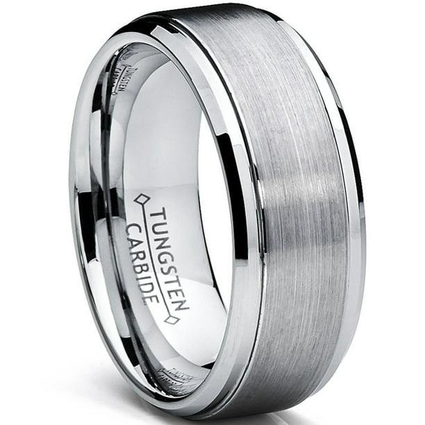 Ringwright Co Men S Tungsten Ring Wedding Band Raised Brushed Finish 9mm Sizes 6 To 15 Walmart Com Walmart Com