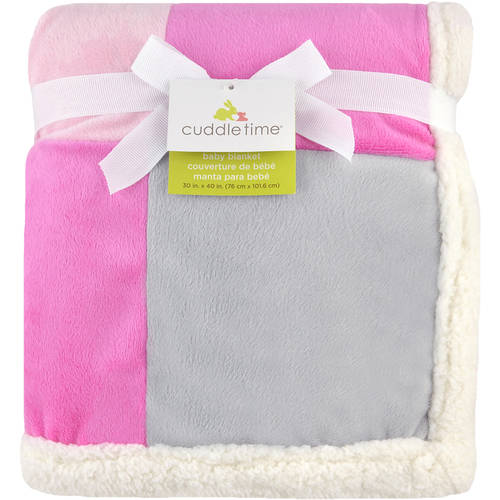 Cuddletime Patchwork Blanket with Soft Plush and Warm Sherpa Back (Choose Your Color)