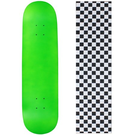 BLANK SKATEBOARD DECK - NEON GREEN - 7.5
