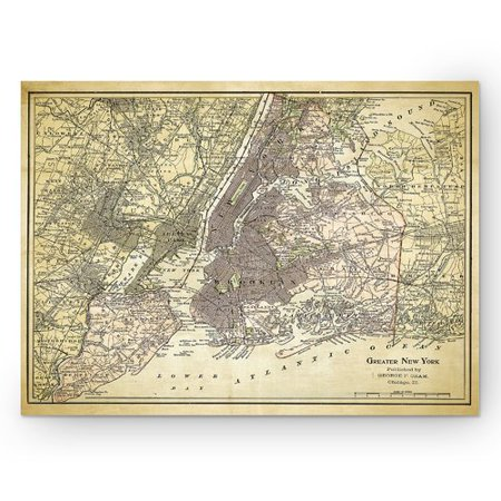 Wexford Home 'NYC Sketch Map ZII' Graphic Art Print on Wrapped Canvas