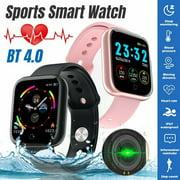 I5 NEW Smart Watch Blood Oxygen Pressure Heart Rate Bracelet For Samsung Apple-Pink