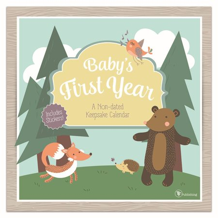 2019 Babys First year Woodland Nondated Calendar, by TF Publishing A Babys First Year Calendar
