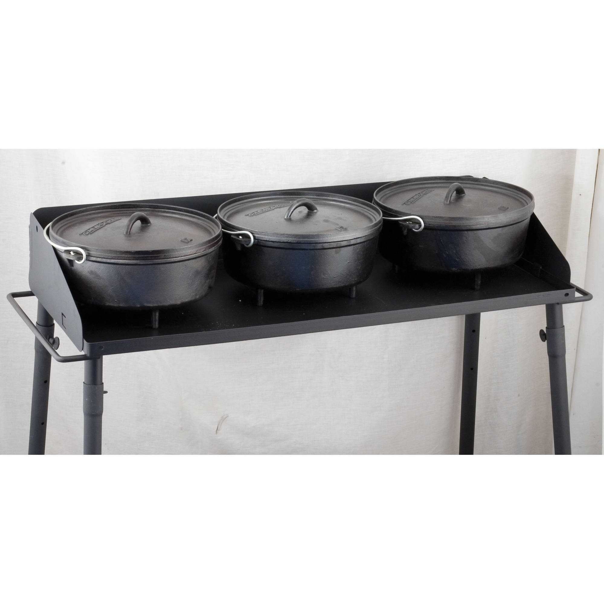 Camp Chef 3 Sided Heavy Duty Steel Dutch Oven Table