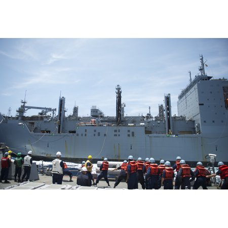 Laminated Poster Sailors Assigned To The Arleigh Burke Class Guided Missile Destroyer Uss John S  Mccain  Ddg 56  Hea Poster Print 24 X 36