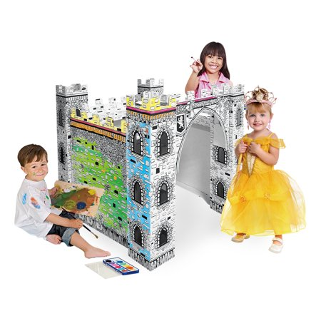 Color- It-Yourself Toy Castle, Kid-Sized Cardboard Coloring ...