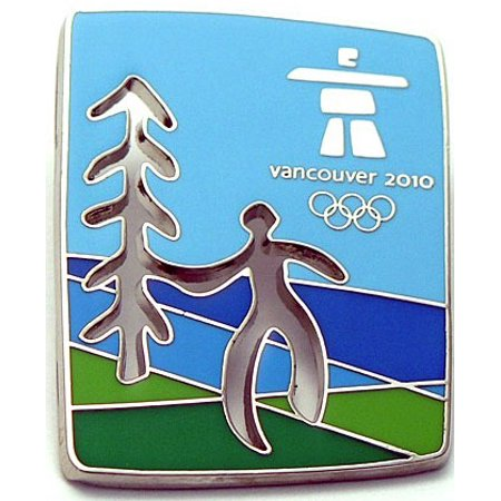 Vancouver 2010 Olympics (Vancouver 2010 Olympics Cut Out Tree Pin )