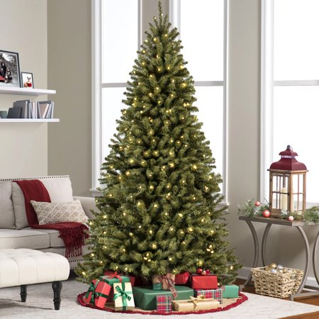 best choice products 75ft pre lit spruce hinged artificial christmas tree w 550